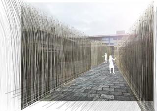 """京都文化力プロジェクトの公募における大賞作品の""""風を視覚化したインスタレーション""""が登場"""