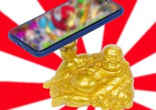 ガチャ運が上がる?!上海問屋が「布袋様」と「宝船」の形をしたスマホスタンドを発売