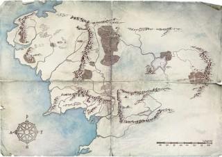 Amazon、制作中のTVドラマ『ロード・オブ・ザ・リング』から「中つ国の地図」公開