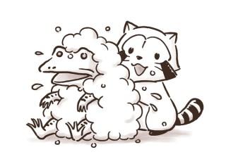日本アニメーション、「あらいぐまラスカル」と鳥獣戯画のコラボ商品を発売