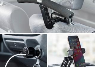 サンワサプライ、USB PD対応カーチャージャーとスマートフォンホルダー、車載ハンガーを発売