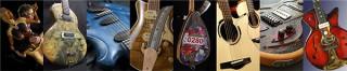 世界各国の個人製作家によるギターをアート作品として展示する「ギターアートフェア」