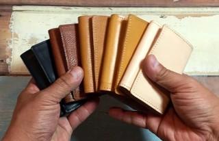 石垣牛・もとぶ牛など沖縄県産牛の革で作ったミニ財布「Gunner グナー」