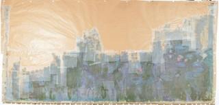 国立西洋美術館と凸版印刷がモネの絵画「睡蓮、柳の反映」の欠損部分をデジタルで推定復元
