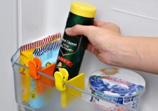 冷蔵庫のドアポケットをきれいに仕切る「クリップス 仕切りクリップ」発売