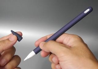 付属のキャップでペン先も保護可能、第2世代Apple Pencil対応の薄型シリコンカバー
