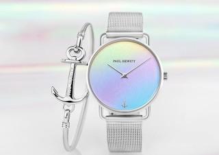 オンザグローバル、女性向けブランドPAUL HEWITTのレインボーカラー腕時計発売