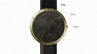"""一面の美しい""""天然石""""が主役! フェイスガラスも文字盤も、針さえもない最小限の腕時計「CLOAK」"""