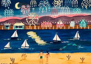 ジャズ・ボーカリストでありながら画家としても活動するバーバラ・ローシーン氏の個展「Simple Joys」