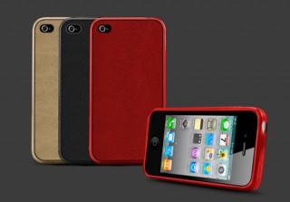 OTAS、TPU素材とラムレザーを組み合わせたiPhone 4用ケース