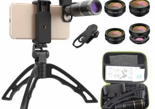 イー・エム・エー、望遠や魚眼など6種類が入ったスマホ用レンズセットを発売