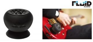 吸盤でギターに取り付ける、ポータブル・ギターアンプ「Strum Buddy」発売