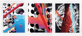 抽象的な概念を視覚化しようと試みている画家の松村咲希氏の個展「the eyes: they see」