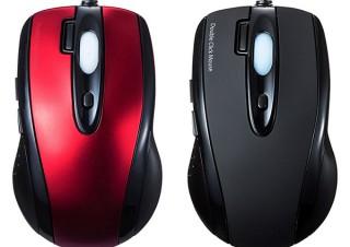 サンワサプライ、ダブルクリックボタンを搭載したUSBマウス「MA-IR125」シリーズを発売