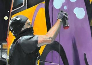 ストリートアートやグラフィティの世界を描くKaren Farmer氏の個展「HIDDEN」