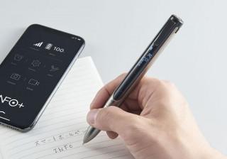 キングジム、スマホと連携する小型液晶付きスマートボールペン「INF10」発売