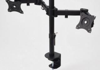 エレコム、液晶ディスプレイを持ち上げてデスクを広々と使える「ディスプレイ用アーム」3モデル
