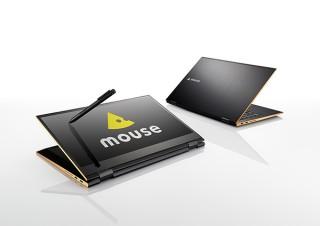 マウスコンピューター、ペン入力に対応する14型のコンバーチブルパソコン「m-Book Uシリーズ」