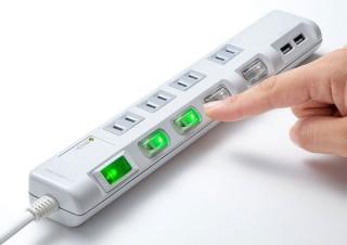 サンワサプライ、USB充電ポートや電源ON/OFFスイッチが付いた電源タップ3シリーズを発売