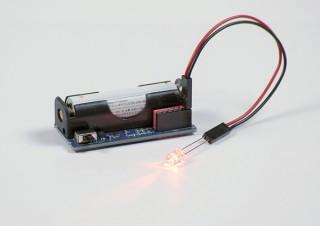 イーケイジャパン、単三形乾電池1本で手軽に「LEDを光らせるための電池ボックス」を発売