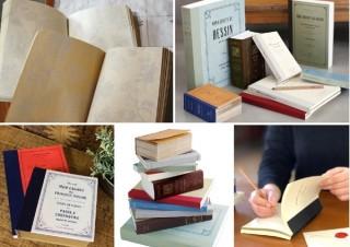 古本のようなアンティークノート「ラフノート」。柄入りや方眼、ミシン目を組み合わせた紙にもこだわり有り