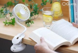 スリー・アール、フレキシブルアームを採用したUSB充電式クリップ付き小型扇風機を発売