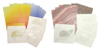 ビクセン、柄の一部が透けて見える特殊加工を施した「透かし封筒のレターセット」を発売
