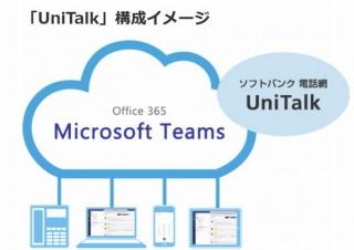 ソフトバンク、Microsoftの新しい音声通話サービス「UniTalk」の提供を開始