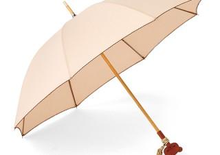 フェリシモ、持ち手が木製リラックマのフリンジ付き晴雨兼用傘を発売
