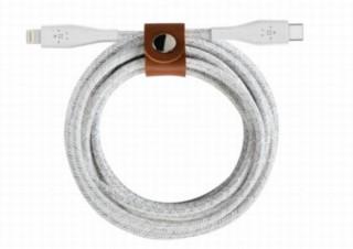 防弾チョッキにも使われるアラミド繊維を採用し超高耐久の「USB-C to ライトニングケーブル」
