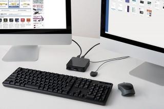 エレコム、複数のパソコンで4台までのUSB機器を共有できる切替器「U3SW-T4/T2」を発売