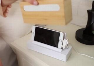 スマホ充電とUV除菌と音楽視聴が同時にできるマルチ充電器「PhoneSolarium」