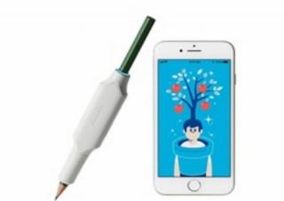 コクヨ、鉛筆に装着してかきたくなる・ほめたくなるIoT文具「しゅくだいやる気ペン」