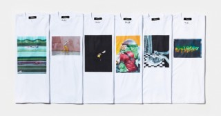 Tシャツに10名のアート写真家の作品と言葉をプリントした「写真を着る、言葉を纏う」展
