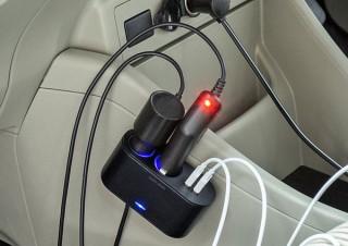 サンワサプライ、12V車のソケットを2口に増やせるUSB充電ポート付きの増設ソケットを発売