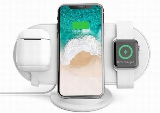 iPhone、Apple Watch、AirPodsを並べてワイヤレス充電できる充電器「Plux」