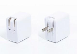 上海問屋、出力最大3.4Aでスマホとタブレットを同時充電できる「2ポートUSB充電器」