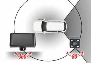煽り運転対策に360度プラス後方80度の計440度を記録する「ドラレコ&リアカメラ」