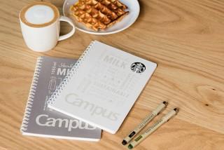 コクヨ、スタバのミルクパックを再活用した表紙のキャンパスリングノート発売