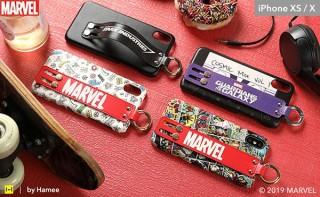 Hamee、MARVEL柄のiPhone XS用バンド付きハードケースを発売