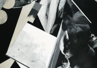"""モノトーンの抽象画で""""時間""""の可視化に取り組んでいる村田奈生子氏の個展が開催"""