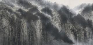 2020年に高野山金剛峯寺に奉納予定の新作襖絵が先行公開されている「千住博展」