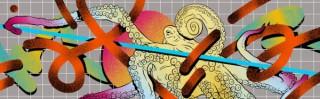 スウォッチストア渋谷が「透明回線」のグラフィックアートを採用したデザインでリニューアル