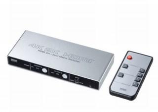 2台のデバイスから2台のモニターに映像出力できる「4K対応HDMIマトリックス切替器」発売