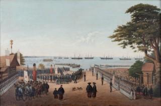 横浜開港160周年を記念して開催される展覧会「絵でたどるペリー来航」