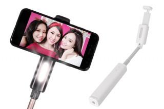 オウルテック、Bluetooth接続でシャッター操作が可能なLEDライト付き自撮り棒を発売