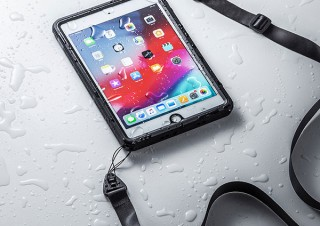 サンワサプライ、iPad mini/Air 2019対応ショルダーベルト付き多機能ケースを発売