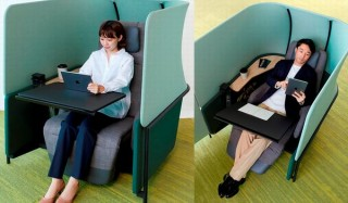 オープンオフィスでも周囲を遮断して集中できるソロワークブース「dop」、コクヨから