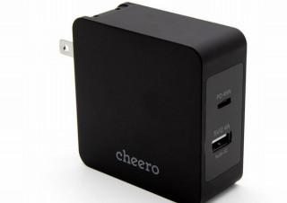 cheero、高出力ポートに改良したUSBアダプタ「2 port PD Charger」発売