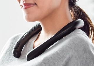 サンワサプライ、首や肩に置いて使う防水機能搭載ウェアラブルスピーカーを発売